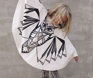 owl, girl, and style image