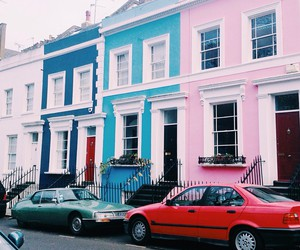 brighton, cars, and colorful image
