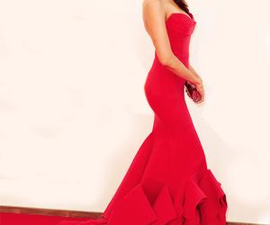 Nina Dobrev, dress, and red image