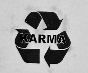 karma, text, and typography image