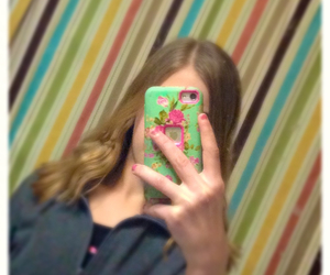 nail polish, iphone case, and selfie image
