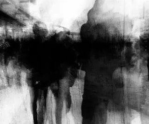 art, black and white, and people image