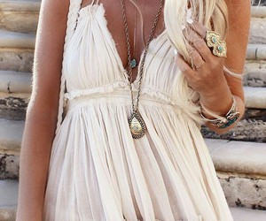 dress, fashion, and boho image