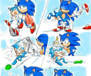 bath time, classic sonic, and funny image