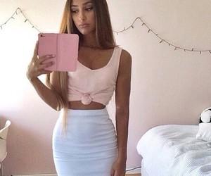 girl, skirt, and fashion image