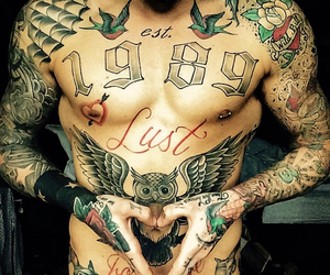 body, boy, and Tattoos image