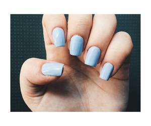 blue, lavender, and nail image