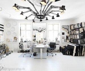 art studio and black and white image
