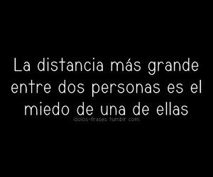 miedo, distancia, and love image