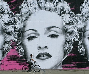 art, street art, and madonna image