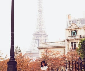 paris, eiffel tower, and woman image
