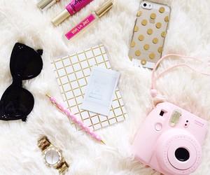 pink, sunglasses, and camera image