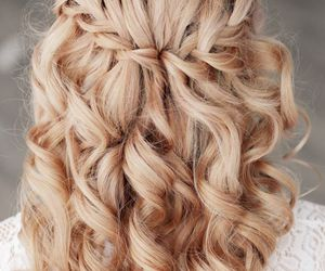 beauty, trenzas, and vintage image