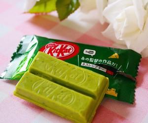 chocolate, food, and green tea image