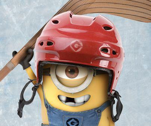 minions and hockey image