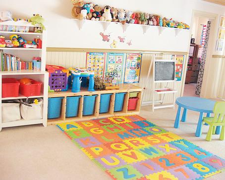 Furniture Cute And Cool Kids Playroom Storage Ideas That Looks So Neat Comfortable And Awesome With The Great And Exciting Furniture Arrangement That Looks So Fascinating With Big Shelf With Some Dolls,Tongue And Groove Shiplap Wall
