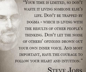 life, quote, and Steve Jobs image