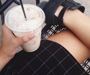 black, tumblr, and coffee image