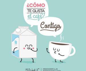 amor, cafe, and contigo image