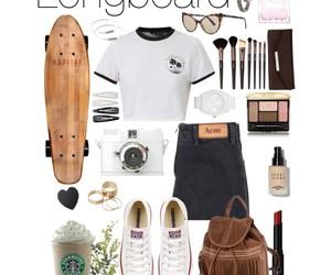 converse, fashion, and longboard image
