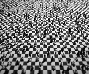 black and white, board, and board game image