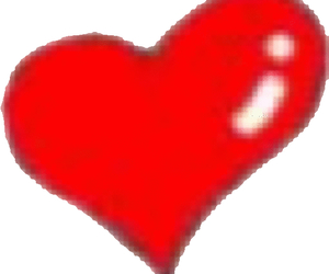 heart, red, and stamp image