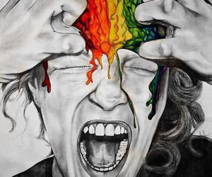 colors, brain, and art image