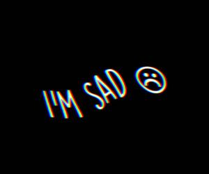 sad and black image
