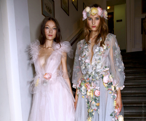 fashion, Marchesa, and flowers image