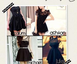 ashton, black dress, and Clifford image