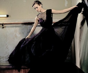 emma watson, dress, and black image