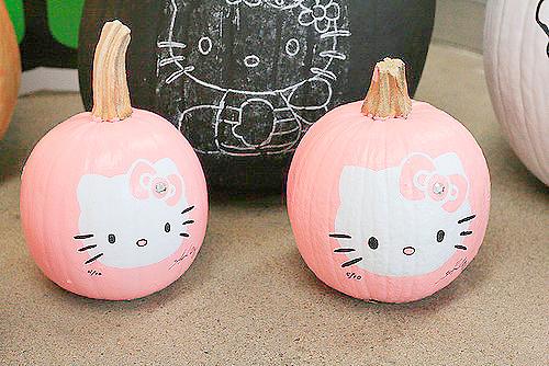 hello kitty, pumpkin, and pink image