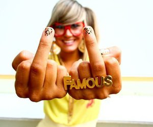 famous, girl, and nails image