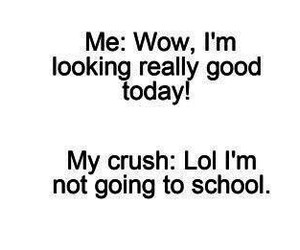 crush, funny, and school image