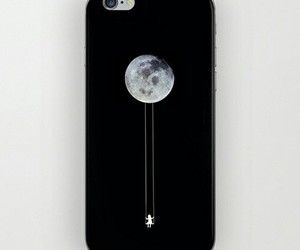 case, iphone, and moon image