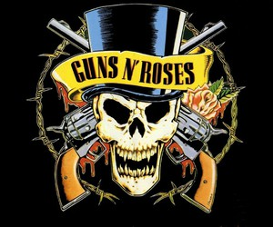 Guns N Roses, rock, and gun image