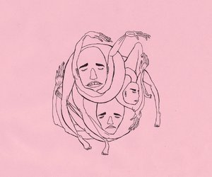 pink, 1. happy, and 2. look up image
