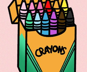 colourful, crayon, and pink image