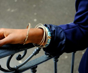 bangles, blue, and indian image