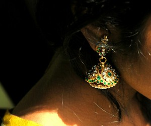 earrings, traditional, and tamil image