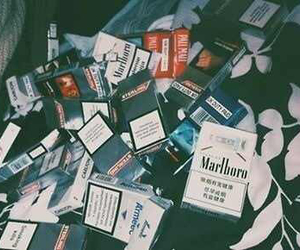 cigarette, smoke, and marlboro image
