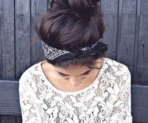 girl, hair, and bandana image