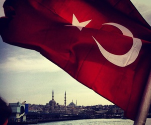 flag, turkiye, and istanbul image
