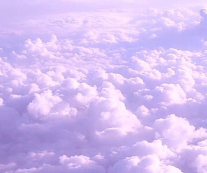 clouds, purple, and sky image