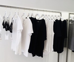 white, black, and clothes image