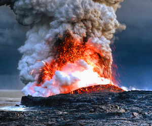 volcano, nature, and photography image