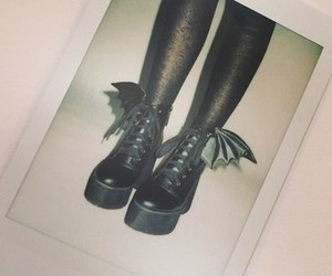 goth, gothic, and shoes image