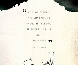 quote, dragon, and tolkien image