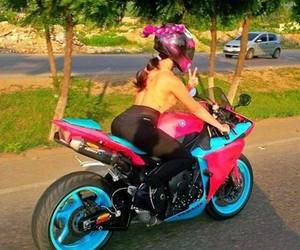 girl, moto, and YAMAHA image