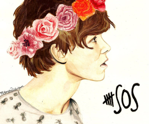 5sos, ashton irwin, and drawing image